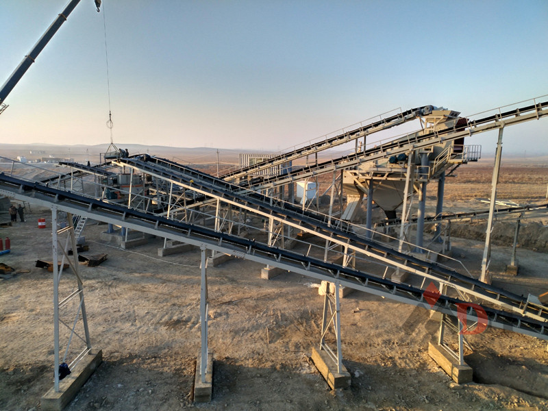 Installation of stone crusher plant in Uzbekistan